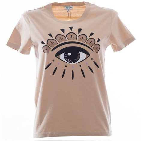 tshirt eye beige in cotone