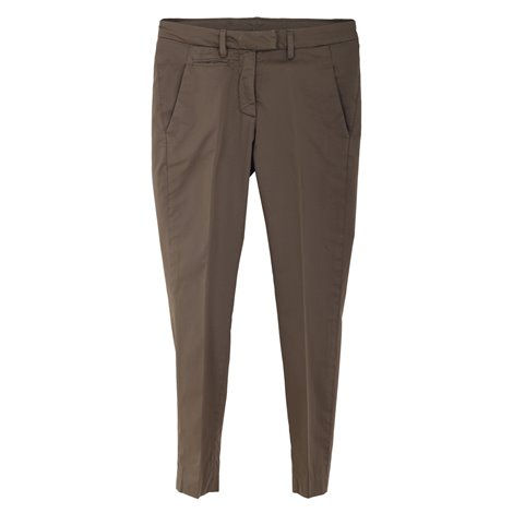 brown cotton perfect trousers