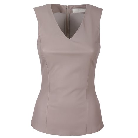 dove grey leather top