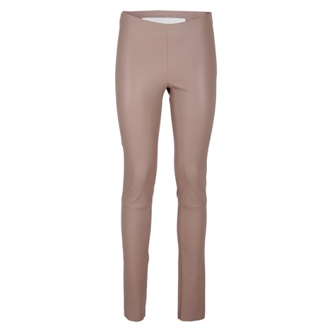 dove grey leather leggins
