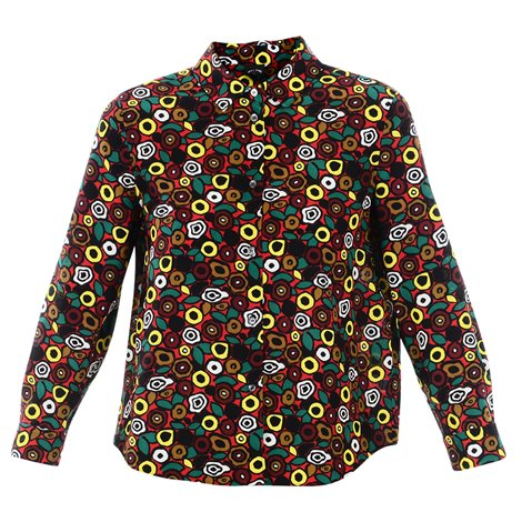 camicia multicolor in seta stampata