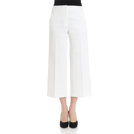 white crop trousers