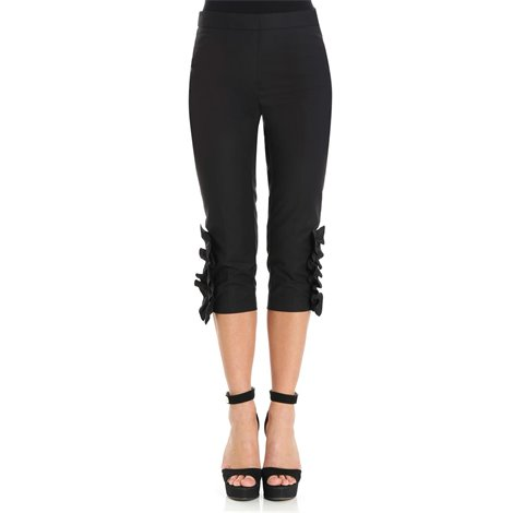 black frilled trousers
