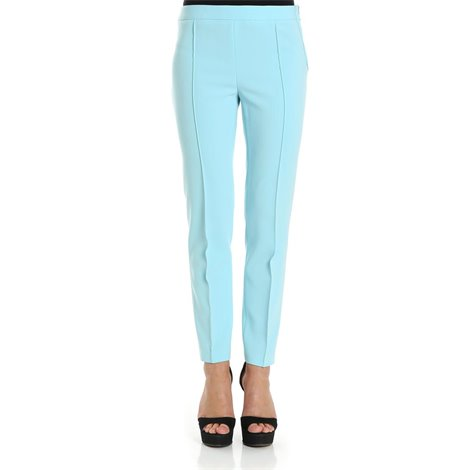 light blue straight trousers