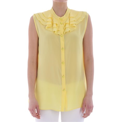 yellow ruched top