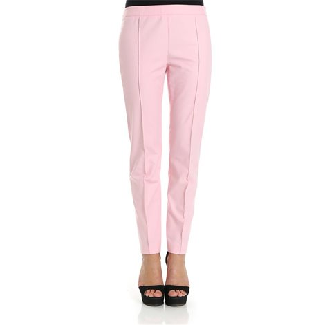 pink straight trousers