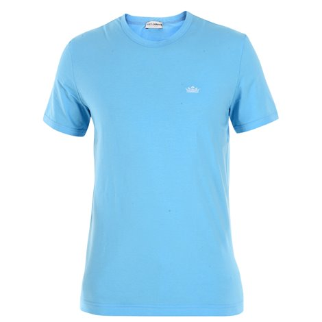 light blue embroidered t-shirt