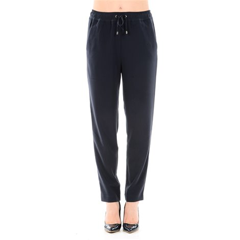 dark dlue trousers with drawstring