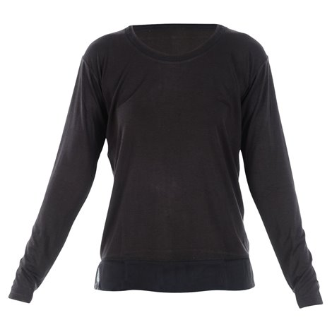 black tshirt with silk inserts