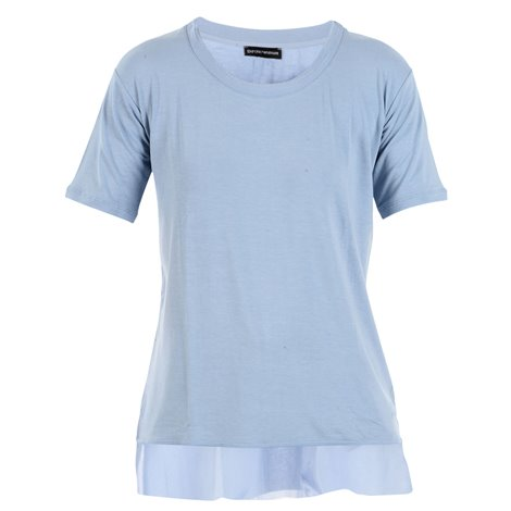 clear blue viscose top