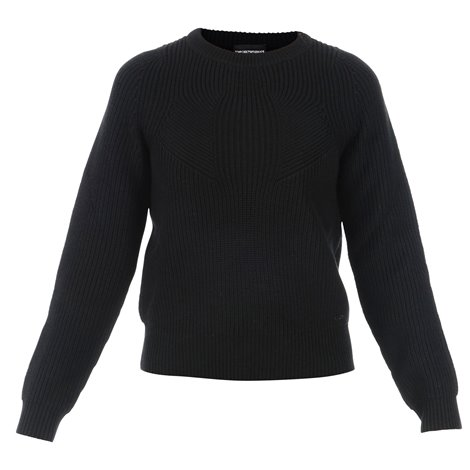 black virgin wool knitwear