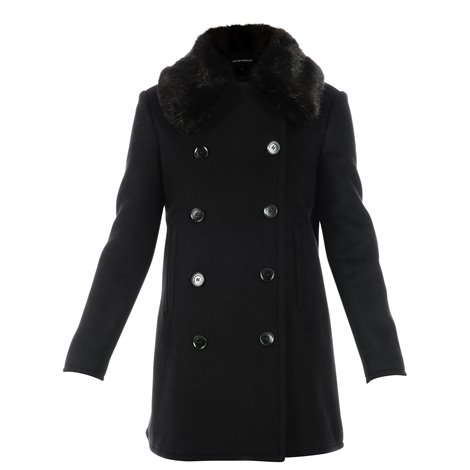 black woolen coat