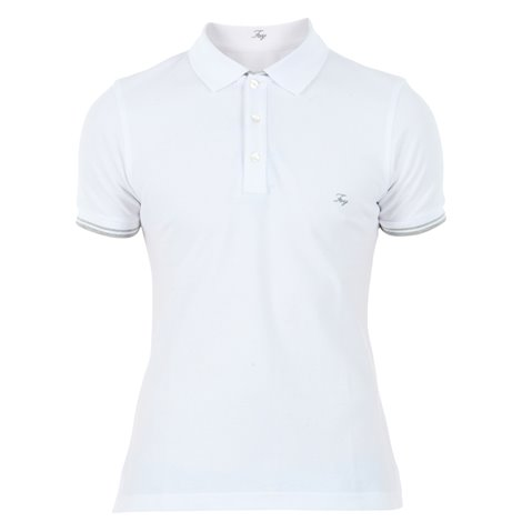 white cotton polo