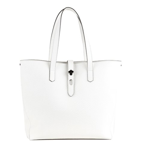 white leather shopper