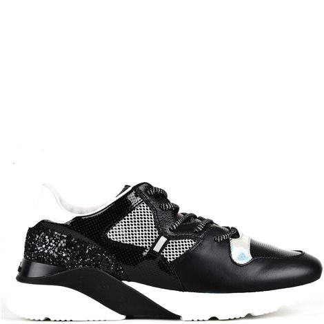 black leather active one sneakers