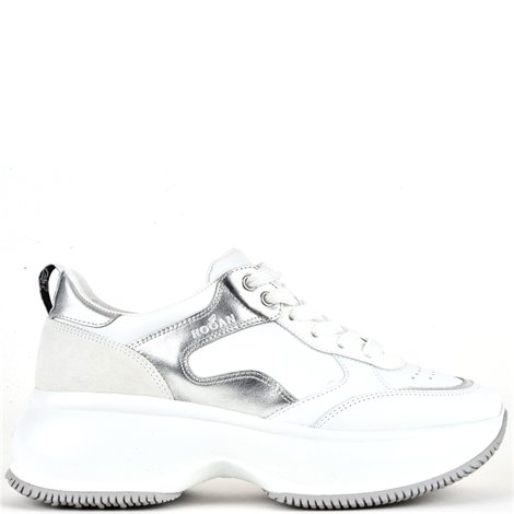white leather  maxi active sneakers