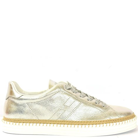 silver leather r260 sneakers
