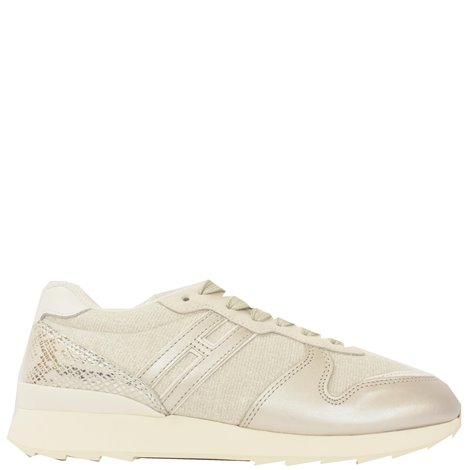 silver leather r261 sneakers
