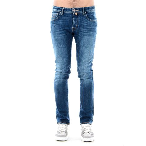 cotton straight jeans