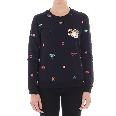 black sweater with patches