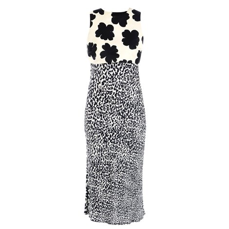 black and white printed dress with shrug