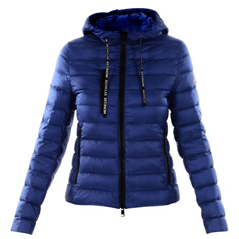 blue zipped down filled coat