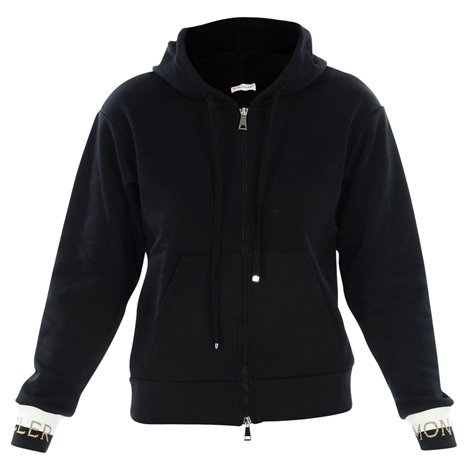 black zipped hoodie with logo