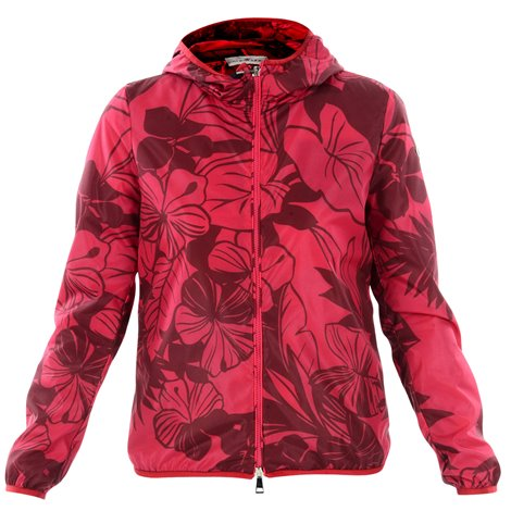 fuchsia hooded jacket with hood