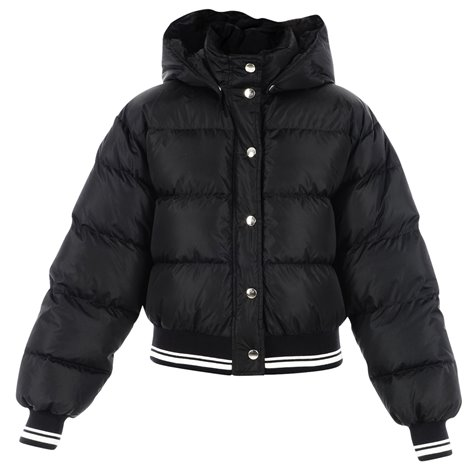 black hooded down filled jacket