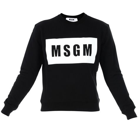 black logoe printed sweatshirt