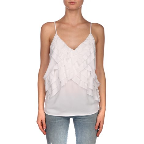 white silk top