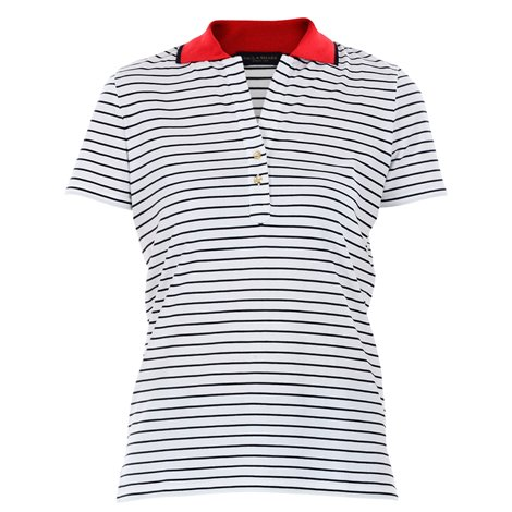 white striped polo
