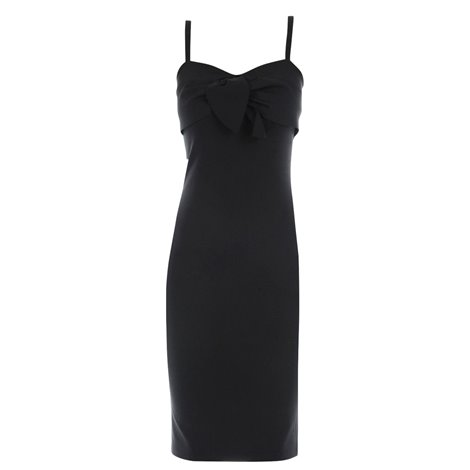 black bowed dress