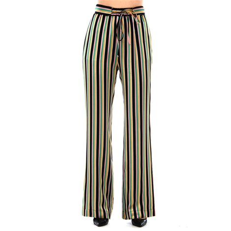 black striped giorgia trousers