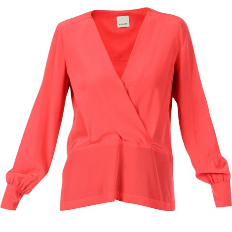 coral red blouse