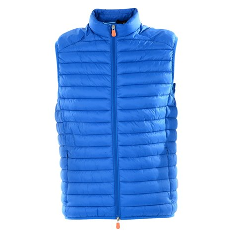 bright blue nylon light vest