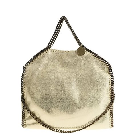 gold falabella 3 chains bag