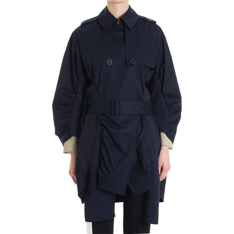 blue belted trench