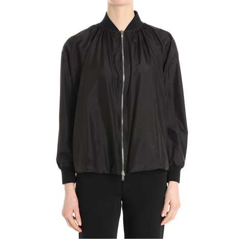 black silk bomber