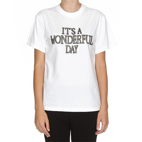 'it's a wonderful day' white t-shirt