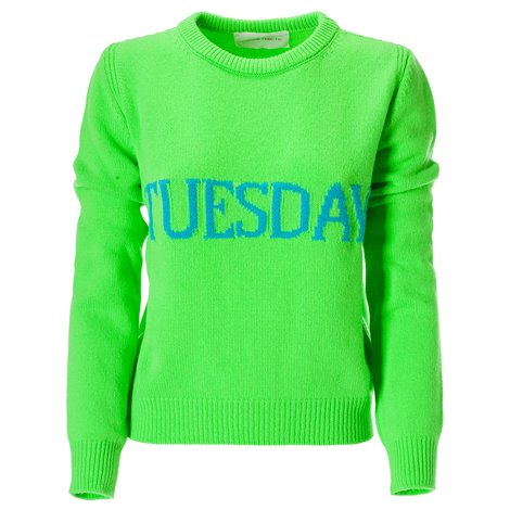 maglia tuesday verde in lana