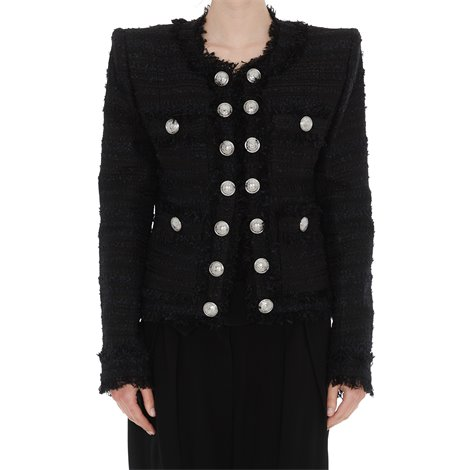 black jacket with buttons