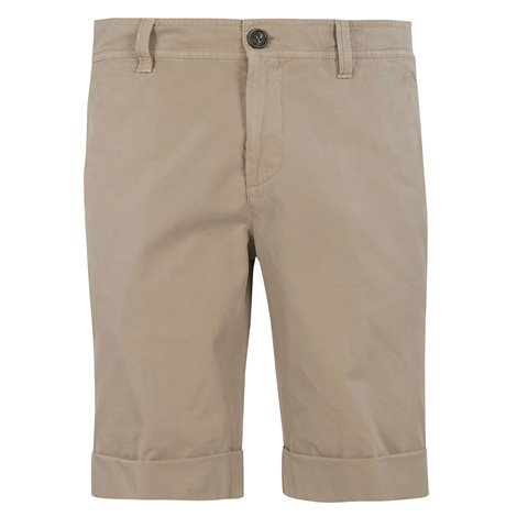 beige cotton bermuda shorts