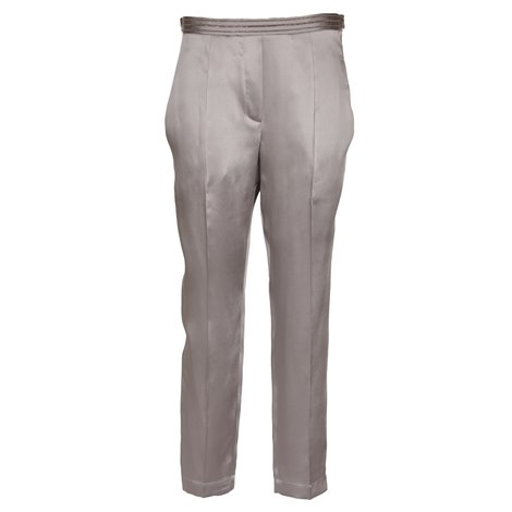 grey decorative stitching trousers