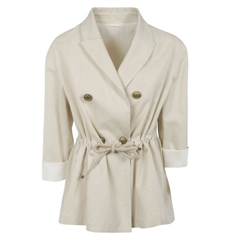 beige linen and cotton jacket