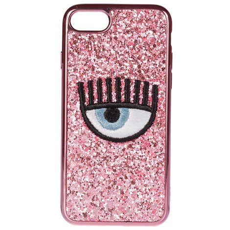 pink iphone 7/8 eye glitter cover