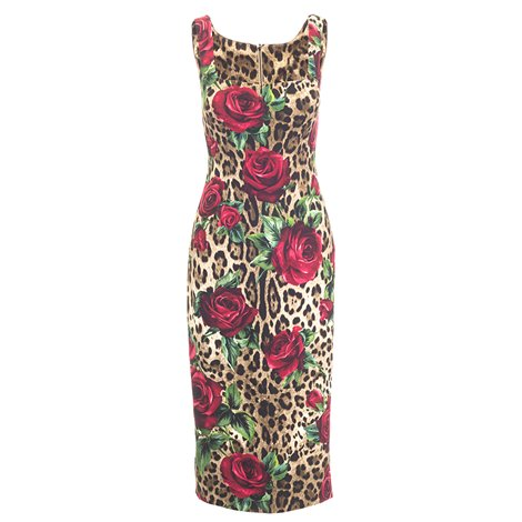 spotted dress with roses printed