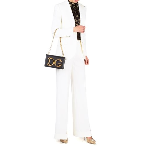 white blazer in stretch wool