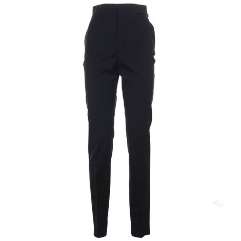 black trousers with waist zip