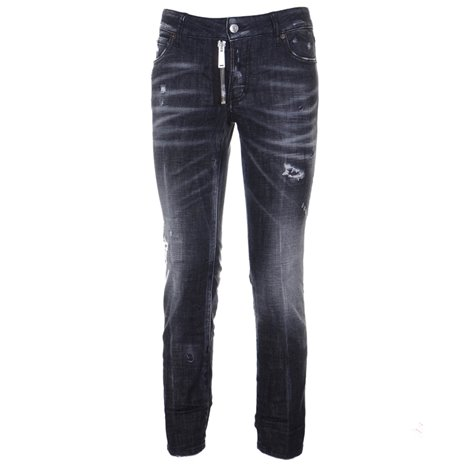 black runway straight cropped jeans